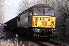 Brutish British Grid (12:11:30 12/12/12) (JohnGreyTurner) Tags: uk train grid br diesel transport engine rail railway locomotive oxfordshire freight 56 bicester langford dcr class56 flyash