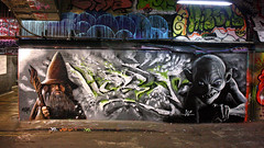 The Hobbit ('gnasher') Tags: urban graffiti gandalf gollum lordoftherings thehobbit leakestreet