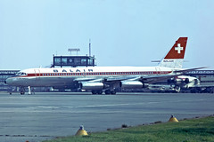 CONVAIR 990 CORONADO HB-ICH BALAIR (shanairpic) Tags: coronado gatwick jetairliner balair convair990 cv990 hbich