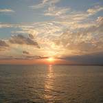 """Sunset from breakers in Mersin <a style=""""margin-left:10px; font-size:0.8em;"""" href=""""http://www.flickr.com/photos/59134591@N00/8269115963/"""" target=""""_blank"""">@flickr</a>"""