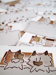 Meow&Craft IMG_7476 (Meow & Craft) Tags: placecards tablecards cat kitten kitty fun cute handmade handcut handcrafted craft diy stationery tag card etsy papergood color watercolor cardstock party name