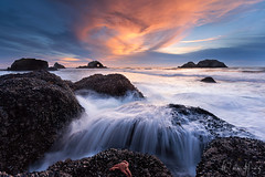 Deuce of Hearts (Willie Huang Photo) Tags: ocean sf sanfrancisco california city sunset sea seascape nature rock landscape coast waves heart pacific scenic bayarea sutrobaths sutro mussels californiacoast