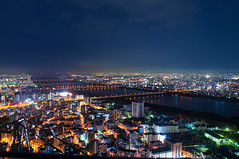 Bohol Is Where The Heart Is, But Somehow a Small Part Remains Here (Lemuel Montejo) Tags: city longexposure bridge sky japan skyline night buildings nikon cityscape osaka umeda skygarden nikond90 nikon20mmf28d