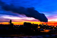 Cold Industrial Sunrise (Doug Wallick) Tags: cold minnesota sunrise colorful long exposure industrial day cloudy minneapolis lightroom a55 interstate94 explored mygearandme mygearandmepremium picmonkey