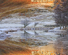 Merry Christmas and a Happy New Year... (Gordie Broon.) Tags: christmas trees winter ice nature water reflections river geotagged photography scotland scenery alba scenic frosty escocia newyear schottland ecosse invernessshire scottishhighlands cannich glencannich canoneos7d rivercannich bestcapturesaoi gordiebroon