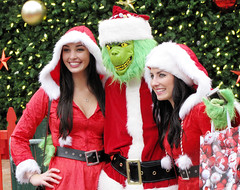 The Grinch and Lovely Friends (shaire productions) Tags: sf sanfrancisco santa christmas xmas costumes ladies girls red people holiday girl beauty female youth pose season fun photography weird photo costume funny pretty santas image candid character seasonal picture posing pic grinch odd event photograph gathering santacon characters moment capture unionsquare drseuss imagery elves santarchy helpers redsuit santacrawl santaconsf sfsantacon grinchwhostolechristmas