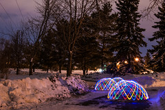 Domes x3 (Tanner Afseth) Tags: longexposure winter light 3 snow cold night lights nikon path saskatoon dome