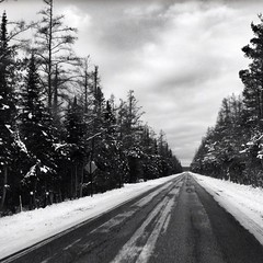 Up North. #sleepingbeardunes #snow #winter #driving #michigan #upnorth (bryan elkus) Tags: square squareformat iphoneography instagramapp uploaded:by=instagram