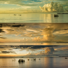Gathering momentum (Louise Denton) Tags: sunset cloud storm rain clouds shower darwin panoramic growth tropical mangroves cloudscape momentum mindilbeach wetseason changeincolour