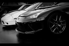Lexus LFA, Cars and Coffee, Irvine, California (Kevin Ho  Photography) Tags: california white black cars coffee japan contrast honda asian japanese nissan battle racing sound dodge viper lamborghini acura supercar irvine lfa jdm nsx lexus gtr srt hypercar aventador