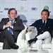 Michel Platini and Piero Chiambretti