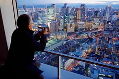 Nice View of Osaka (Jake Jung) Tags: man japan night buildings lights skyscrapers sony north  getty editorial  osaka kita umeda salaryman gettyimages  flickrvision  skybuilding      apsc  nex7 sel1018 e1018mmf4oss jakejung