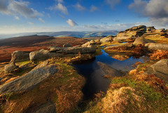 Sunlight on the Tor (andy_AHG) Tags: rural sunrise outdoors rocks peakdistrict yorkshire scenic moors pennines newyearsday britishcountryside northernengland landscapephotography higgertor beautifullandscapes