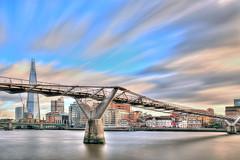 London Sky (Londonietis) Tags: england sky london thames clouds milleniumbridge shard hdr nd110