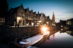 before sunset | in Bruges (dawvon) Tags: world city longexposure travel sunset architecture night dark landscape ed boat canal twilight nikon europe cityscape nightshot belgium zoom streetlamp brugge wideangle westvlaanderen bruges nikkor f4 vr afs lenses churchofourlady flanders dijver historicalbuilding zoomlens westflanders onzelievevrouwekerk vlaanderen f4g 1635mm fmount vibrationreduction kingdomofbelgium vr2 vrii wideanglezoom glisenotredame flemishregion vlaamsgewest nanocrystalcoat afsnikkor1635mmf4gedvr 1635mmf4gvr