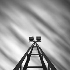 Light Tower (DavidFrutos) Tags: longexposure light bw luz monochrome clouds square monocromo poste bn pole murcia filter le lee nubes canondslr lighttower 1x1 filtro largaexposicin filtros neutraldensity canon1740mm torredeluz densidadneutra davidfrutos 5dmarkii niksilverefexpro leebigstopper