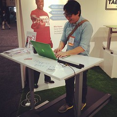 Standing desk + treadmill! How would you like this for your home office? (Yahoo! Homes) Tags: dod2012 dwellondesign2012