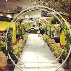 Lovely arches from Terra Trellis at the outdoor living area at Dwell on Design 2012. (Yahoo! Homes) Tags: dod2012 dwellondesign2012
