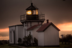 Lighthouse at Dawn (alexhlckey) Tags: ocean morning light sea lighthouse dawn nw kingston sound pnw hdr puget nk kitsap hansville pointnopoint