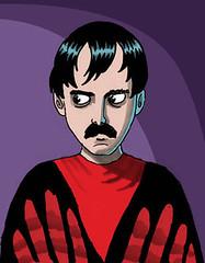 The Master... (Tom Bagley) Tags: calgary illustration weird cartoon folklore eerie 1966 creepy spooky fantasy elpaso horror pulp macabre sharpie themaster mst3k ooky magicmarkers tombagley manosthehandsoffate fertilizercompany tomneyman