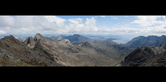 View from Bruach na Frithe (johnkaysleftleg) Tags: panorama mountains scotland highlands isleofskye clear cuillin blaven blabheinn sgurrnangillean bruachnafrithe canon400d canonefs18mm55mmf3556