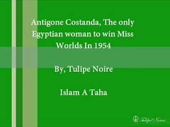 Antigone Costanda; The Second Egyptian woman to win Miss World - London In 1954 [B] (Tulipe Noire) Tags: world africa woman london egypt middleeast 1954 1950s egyptian miss antigone costanda