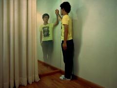 Lose myself (.Pedro Soares.) Tags: shadow cortina espelho self myself lost mirror reflex