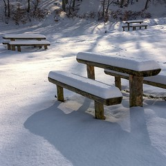 """Shadows (George Nutulescu) Tags: winter snow nature forest bench season nikon day view vision ourtime fantasticnature nikond40 flickraward vertorama flickrestrellas spiritofphotography oracope outstandingromanianphotographers flickrthroughyoureyes """"flickrtravelaward"""" pwwinter"""