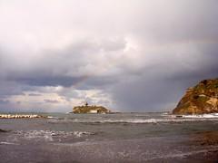 Napoli Rainbow Arcobaleno isolotto di San Martino (52picchio) Tags: rainbow flickr italia mare wind naples arcobaleno molo onde maestrale mareggiata montediprocida flegrei 2013 flickrnova me2youphotographylevel1 flickrclickx