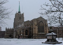 Chelmsford Cathedral (Stuart Axe) Tags: street city uk greatbritain winter england white snow cold history ice church weather frost cathedral unitedkingdom snowstorm gb blizzard essex winterstorm chelmsford chelmsfordcathedral bigfreeze countytown thebigfreeze countyofessex dioceseofchelmsford cityofchelmsford