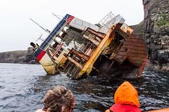 Ship wreck off the Isle of Rum, Scotland (2) (Rosarian49) Tags: sea skye boats coast scotland innerhebrides shipwreck rum isle trawler rhum rosarian49