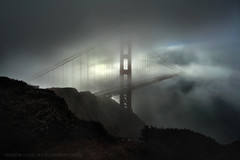 Got Milk? (Andrew Louie Photography) Tags: sf bridge winter mist hot film coffee fog clouds golden gate san francisco noir chocolate frenchtoast