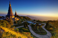 Inthanon Landmark (baddoguy) Tags: park trip travel winter light sunset sky mountain reflection pool landscape thailand golden evening pagoda amazing afternoon tour walk landmark icon images clear trail national jedi getty chiangmai iconic gettyimages doi inthanon ไทย อินทนนท์ ดอย naphamethinidon naphaphonphumisiri นภเมทินีดล นภพลภูมิสิริ gettyimagesstock