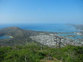 Hawaii Kai view from Koko Head top