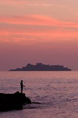 While faces a world heritage (Tomohiro Urakawa) Tags: worldheritage hashima gunkanjima nagasaki dusk