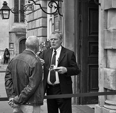 Doorman (Nikonsnapper) Tags: olympus omd em1 1240mm bw bath royal baths doorman
