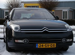 CiFo Nieuwjaarsmeeting 2016 - Sappemeer (Skylark92) Tags: citroen event c6 winter snow black v6 30