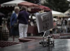 Table 20 (pipnash) Tags: sign table dof bokeh france french life talking talk salt pepper sel poivre