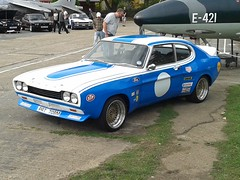 Ford Capri 1600 PRT708M (Andrew 2.8i) Tags: 45th year anniversary ford capri brooklands weybridge surrey club show classic classics car hatch hatchback coupe 1600 16 mark mk 1 mk1 mark1 cologne rs replica blue youngtimer all types transport
