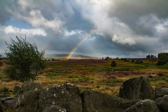 Owler Tor double rainbow (21mapple) Tags: owler tor owlertor nationaltrust nt countryside wall trees tree outdoors outdoor clouds cloudy rainbow