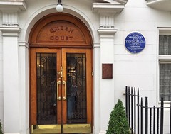 Tommy Yeo-Thomas was a British agent in WW2 who inspired Ian Fleming to create the character of James Bond. He lived here at Queen Court in Bloomsbury. His exploits and bravery were astonishing and are well worth reading more about, eg on wikipedia. (juliavhill) Tags: england guilfordstreet queencourt london ianfleming jamesbond bloomsbury frenchresistance soe buchenwald history londonhistory shelley seahorse thewhiterabbit tommyyeothomas ww2