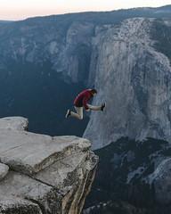 The Jumping Thing (Carter_Wilson) Tags: adventure elcapitan granite sunrise taftpoint yosemite