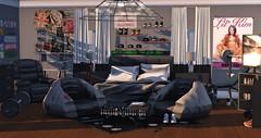 Teen Boy Room_001 (The Flip SL) Tags: bedroom secondlife teen boy gamer valekoer flite mudhoney theflipsl