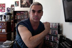 FLEXING, After Coming Back From Having MEDICAL Tests. (Jonathan C. Aguirre) Tags: photobooth muscles biceps flexing arms arm fetish blood draws tests needles guns strong