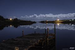 still water and some moonlight (Rob Romard) Tags: moonlight calm ocean fishingvillage atlantic capebreton clouds