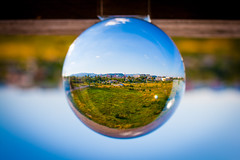 _MG_0261-2 (AdamFejes) Tags: glass globe glassglobe pointofview light sun summer blackandwhite bw colour city budapest danube sunset