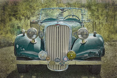 A Front View (jta1950) Tags: car roadster auto automobile vehicle voiture painterly granbyinternational2016
