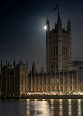 Night in London (angelinacolins) Tags: londonnight houses housesofparliament tower moon thamesriver westminster timeoutnight awesome beautiful unitedkingdom