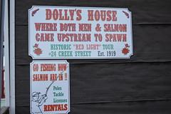 Ketchikan, Alaska - Creek Street - Dolly's House (jrozwado) Tags: northamerica usa alaska ketchikan kichxan creekstreet sign house houseofillrepute brothel dollyshouse museum