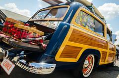 Learner (GmanViz) Tags: gmanviz color car automobile goodguysppgnationals nikon d7000 detail 1951 ford stationwagon woodie tailgate luggage surfboards
